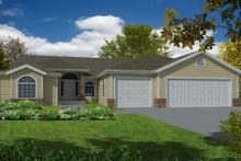 Home Plan - Traditional Exterior - Front Elevation Plan #437-28
