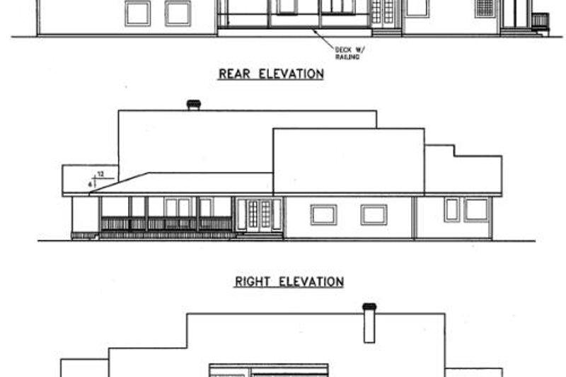 Traditional Exterior - Rear Elevation Plan #60-290 - Houseplans.com