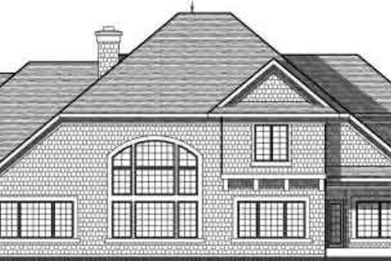 European Exterior - Rear Elevation Plan #70-736 - Houseplans.com