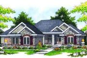 Traditional Style House Plan - 3 Beds 2 Baths 2097 Sq/Ft Plan #70-619 Exterior - Front Elevation
