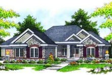 Home Plan - Traditional Exterior - Front Elevation Plan #70-619