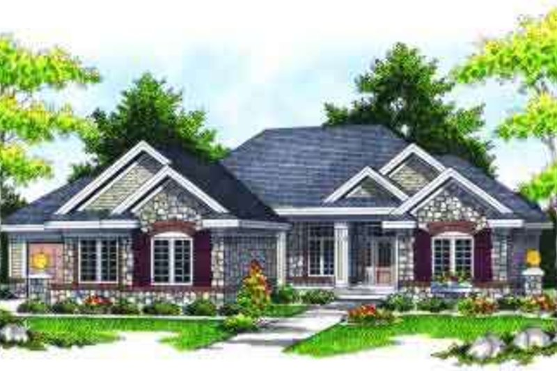 Traditional Exterior - Front Elevation Plan #70-619