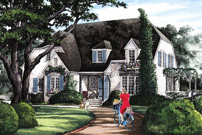 Dream House Plan - Cottage Exterior - Front Elevation Plan #137-289