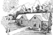 Traditional Style House Plan - 3 Beds 2 Baths 2102 Sq/Ft Plan #30-172 Exterior - Front Elevation