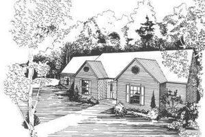 Traditional Exterior - Front Elevation Plan #30-172