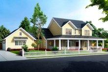 Dream House Plan - Farmhouse Exterior - Front Elevation Plan #513-2184