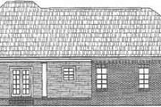 Southern Style House Plan - 3 Beds 2 Baths 1751 Sq/Ft Plan #21-123 Exterior - Rear Elevation