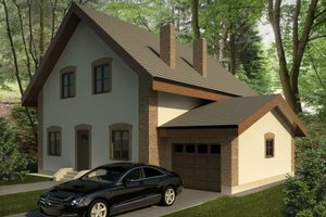 European Exterior - Front Elevation Plan #906-6
