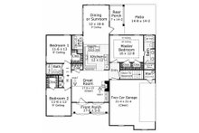 European Floor Plan - Main Floor Plan Plan #21-185