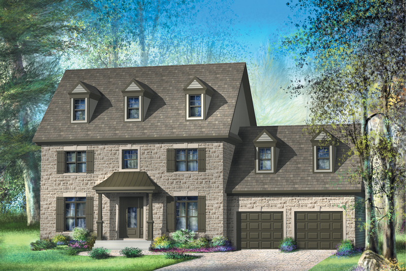 Colonial Style House Plan - 3 Beds 1 Baths 2189 Sq/Ft Plan #25-4701 Exterior - Front Elevation