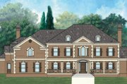 European Style House Plan - 4 Beds 5 Baths 5356 Sq/Ft Plan #119-342 Exterior - Front Elevation