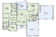 European Style House Plan - 3 Beds 3.5 Baths 3548 Sq/Ft Plan #17-2539 Floor Plan - Main Floor Plan