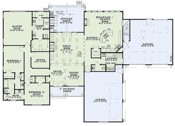 Dream House Plan - European Floor Plan - Main Floor Plan #17-2539