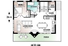 Modern Floor Plan - Main Floor Plan Plan #23-2023