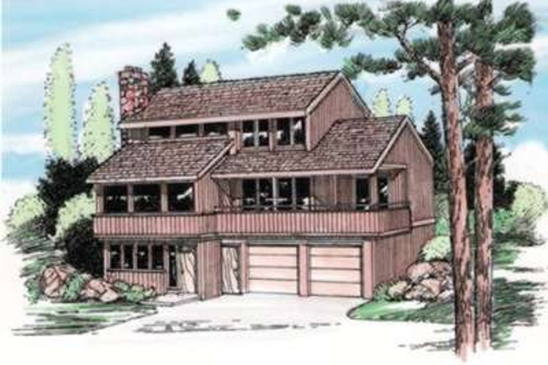 House Plan - 3 Beds 2.5 Baths 2159 Sq/Ft Plan #116-224 Exterior - Front Elevation