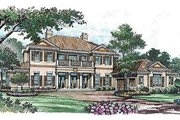 Mediterranean Style House Plan - 6 Beds 4.5 Baths 7622 Sq/Ft Plan #135-138 Exterior - Front Elevation
