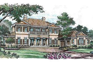 Mediterranean Exterior - Front Elevation Plan #135-138