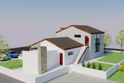 Contemporary Style House Plan - 5 Beds 5 Baths 1999 Sq/Ft Plan #542-20 Exterior - Rear Elevation