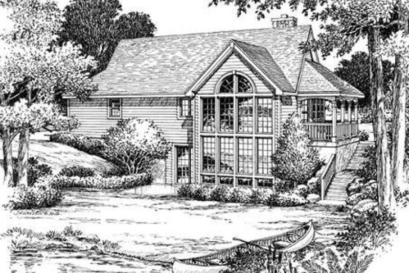 Traditional Exterior - Rear Elevation Plan #57-185 - Houseplans.com