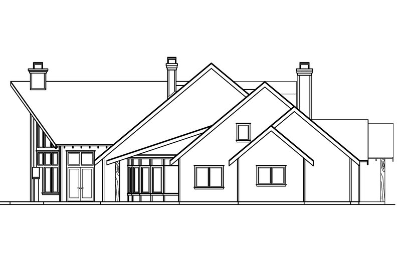 Craftsman Exterior - Other Elevation Plan #124-691 - Houseplans.com
