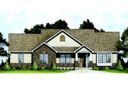 Craftsman Style House Plan - 2 Beds 2 Baths 1111 Sq/Ft Plan #58-204 Exterior - Front Elevation