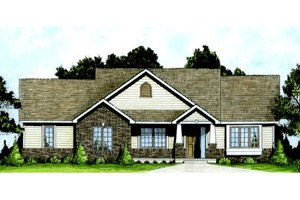 House Design - Craftsman Exterior - Front Elevation Plan #58-204