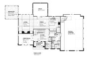 Traditional Style House Plan - 4 Beds 3.5 Baths 3010 Sq/Ft Plan #901-30 Floor Plan - Main Floor