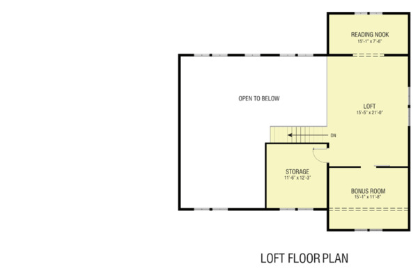 Farmhouse Floor Plan - Upper Floor Plan Plan #1068-4