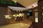 Craftsman Style House Plan - 3 Beds 2 Baths 1807 Sq/Ft Plan #51-551 Exterior - Other Elevation