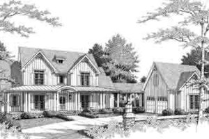 Southern Exterior - Front Elevation Plan #71-121