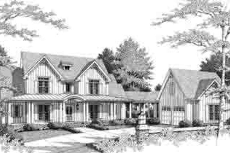 Southern Style House Plan - 3 Beds 3.5 Baths 3205 Sq/Ft Plan #71-121