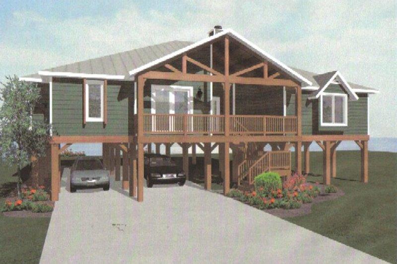 Architectural House Design - Beach Exterior - Front Elevation Plan #14-252