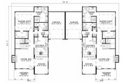 Southern Style House Plan - 3 Beds 2.5 Baths 1687 Sq/Ft Plan #17-655 Floor Plan - Main Floor
