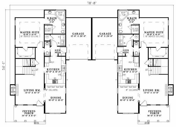 Southern Floor Plan - Main Floor Plan Plan #17-655