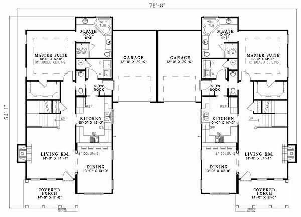 Southern Floor Plan - Main Floor Plan #17-655