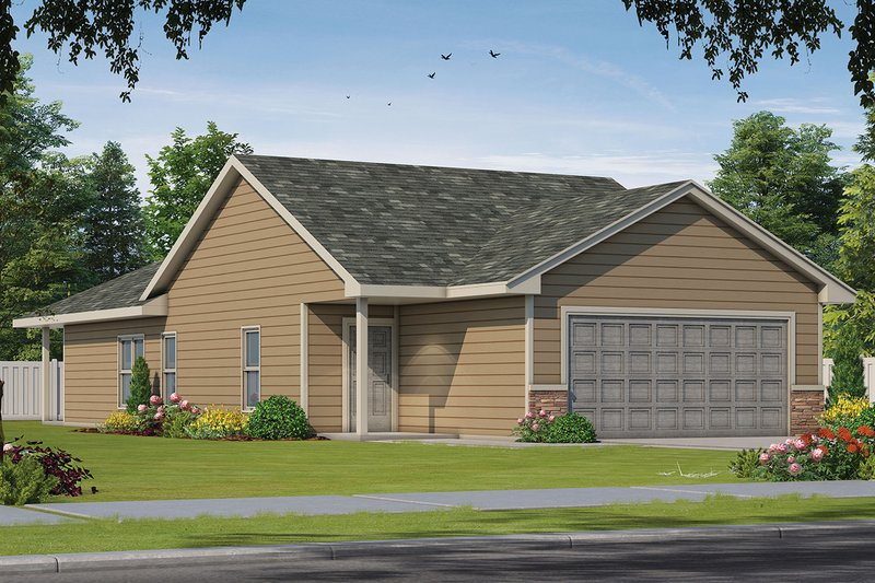 House Plan Design - Traditional Exterior - Front Elevation Plan #20-2342