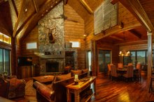 Log Interior - Family Room Plan #451-28