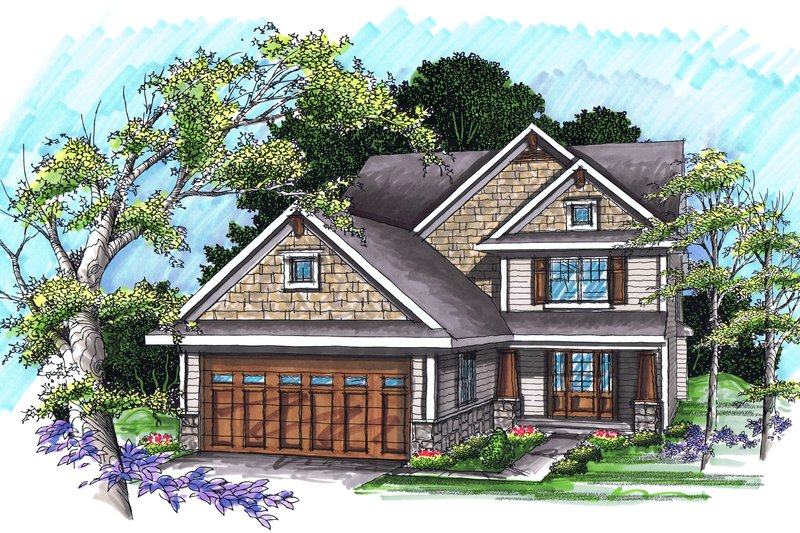 Home Plan - Traditional Exterior - Front Elevation Plan #70-1035