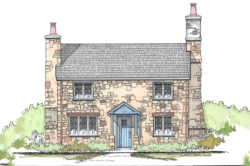 Cottage Style House Plan - 3 Beds 2 Baths 1292 Sq/Ft Plan #43-110