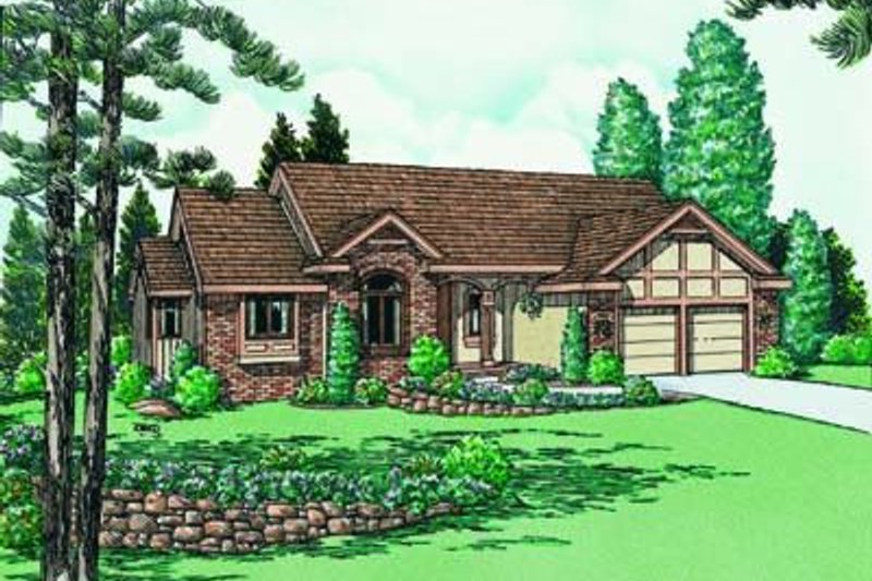 Traditional Exterior - Front Elevation Plan #20-535