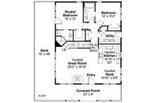 Cottage Floor Plan - Main Floor Plan Plan #124-473