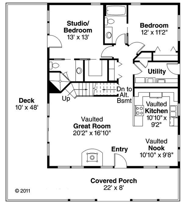 Cottage Floor Plan - Main Floor Plan #124-473