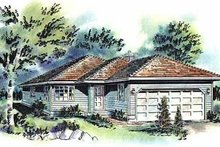 Home Plan Design - Traditional Exterior - Front Elevation Plan #18-155