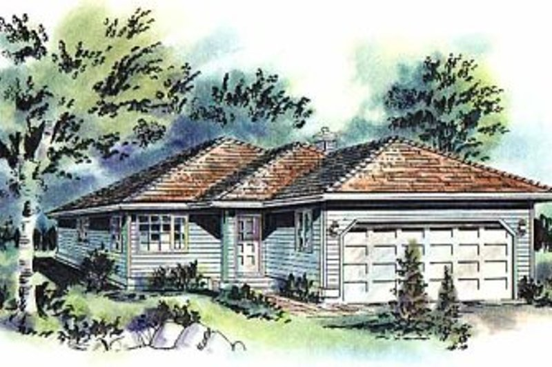 House Blueprint - Traditional Exterior - Front Elevation Plan #18-155