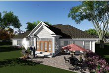 Dream House Plan - Craftsman Exterior - Rear Elevation Plan #70-1282