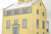 Colonial Style House Plan - 3 Beds 2.5 Baths 1440 Sq/Ft Plan #477-8 Exterior - Front Elevation