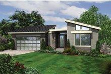 Architectural House Design - Modern Exterior - Front Elevation Plan #48-606