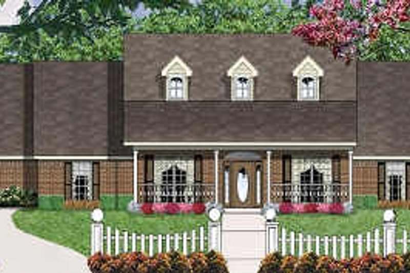 Traditional Style House Plan - 4 Beds 2.5 Baths 2164 Sq/Ft Plan #62-108 Exterior - Front Elevation