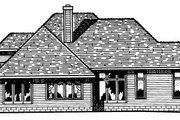 Traditional Style House Plan - 3 Beds 2.5 Baths 2186 Sq/Ft Plan #20-145 Exterior - Rear Elevation