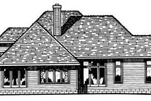 Home Plan - Traditional Exterior - Rear Elevation Plan #20-145